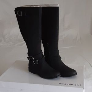 Shoes - Womens Madden Girl Black Riding Boots